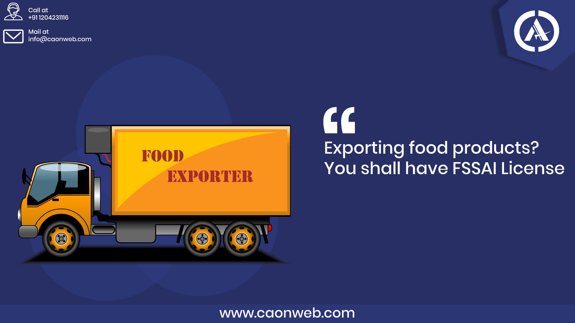 export-food-license-India