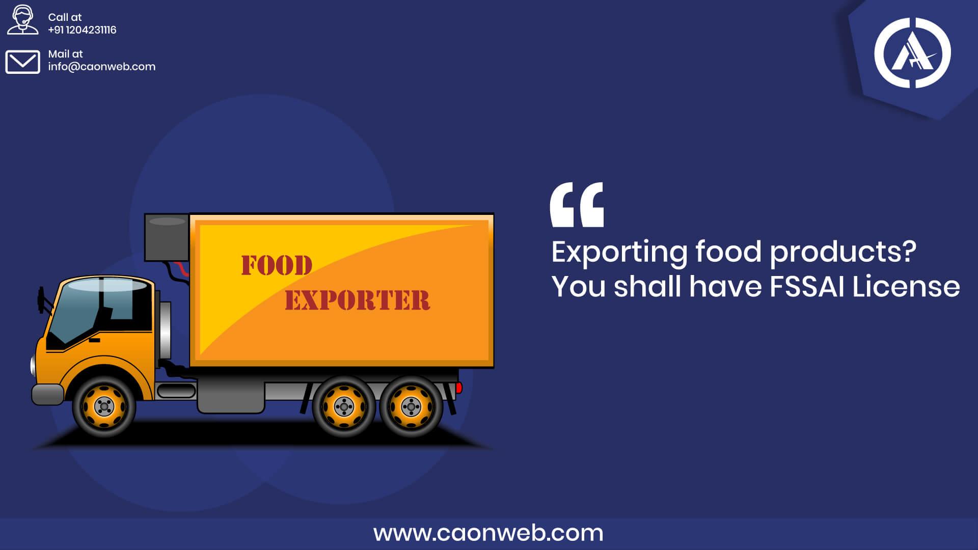 export-food-license-India