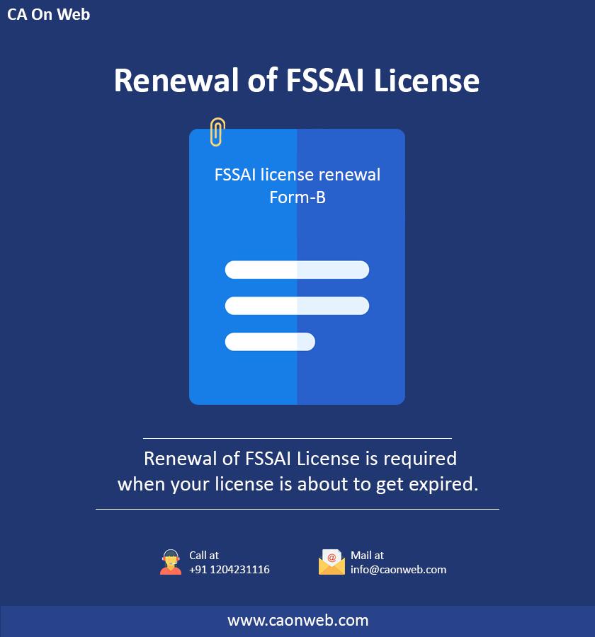 Renewal Of Fssai License