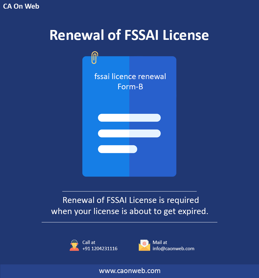 Renewal Fssai License