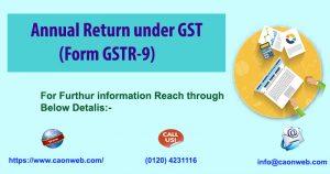 Annual Return under GST (Form GSTR-9)