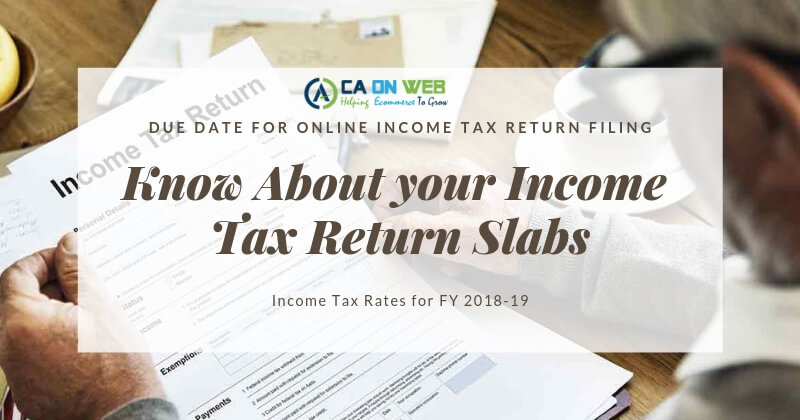 Know About Income Tax Return Income Tax Slabs Income Tax Rates