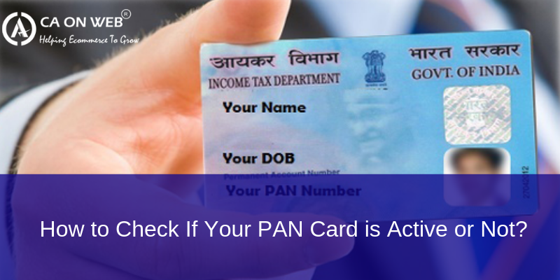 How to Check If Your PAN Card is Active or Not?
