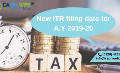 New ITR filing date for A.Y 2019-20