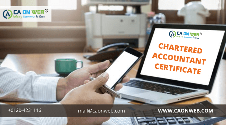 CHARTERED ACCOUNTANT CERTIFICATE